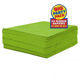 Kiwi Green  Dinner Napkins 50ct