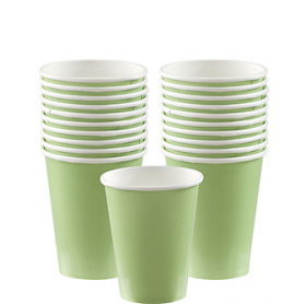 Leaf Green Paper Cups 20ct