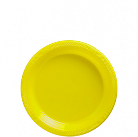 Light Yellow Plastic Dessert  Plates 20ct