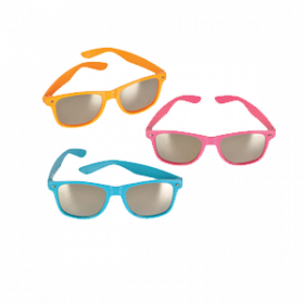 Neon Color Sunglasses with Mirror Lens (1doz)