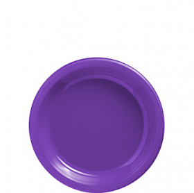 New Purple Plastic Dessert  Plates 20ct