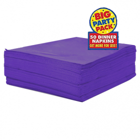 New Purple Dinner Napkins 50ct