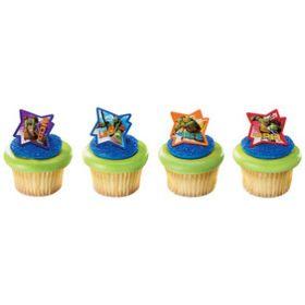 Ninja Turtles Cupcake Rings 6pcs