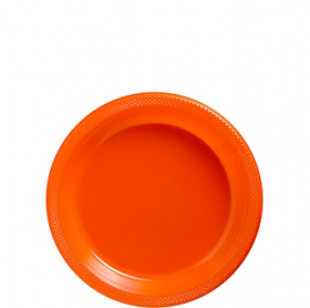 Orange Peel Plastic Dessert  Plates 20ct