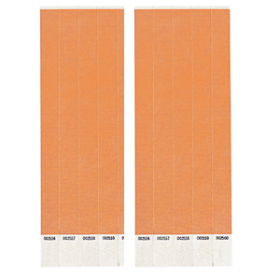 Neon Orange Paper Wristbands 500ct