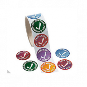 Checkmark Roll of Stickers (100pcs/roll)