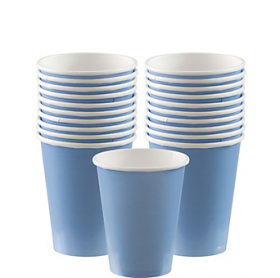 Pastel Blue Paper Cups 20ct