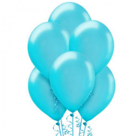 Caribbean Blue Pearl Balloons 72ct
