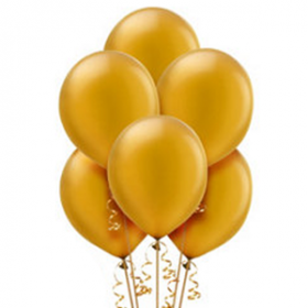Gold Pearl Balloons 10ct
