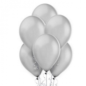Silver Pearl Balloons 72ct