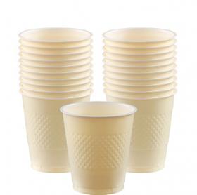 12oz Vanilla Crème Plastic Cups 20ct