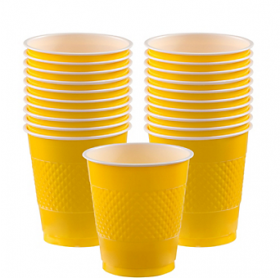 12oz  Yellow Sunshine Plastic Cups 20ct