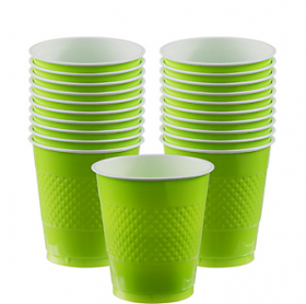 12oz Kiwi Plastic Cups 20ct