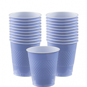 12oz  Pastel Blue Plastic Cups 20ct
