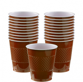 12oz  Chocolate Brown  Plastic Cups 20ct