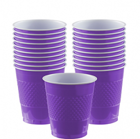 12oz  New Purple  Plastic Cups 20ct