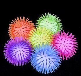 "5"" LIGHT-UP POM POM BALL  (1doz)"
