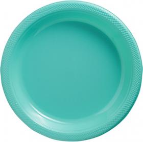 Robin's Egg Blue Plastic Dinner Plates 20ct