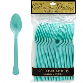 Robin's Egg Blue  Premium Quality Plastic Spoons 20ct