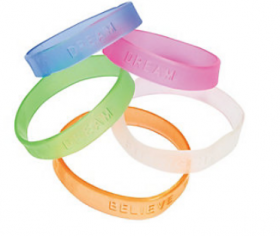 Rubber Jelly Sayings Bracelets 2dz