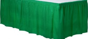Festive Green  Plastic Table Skirt