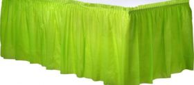 Kiwi Plastic Table Skirt