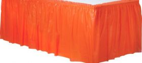 Orange Peel  Plastic Table Skirt