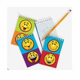 Paper Smile Face Spiral Notepads