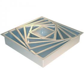 10 X 10 X 2 Square Aluminum Pan (1PC) (Fat Daddio's)