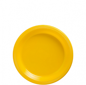 Yellow Sunshine Plastic Dessert  Plates 20ct